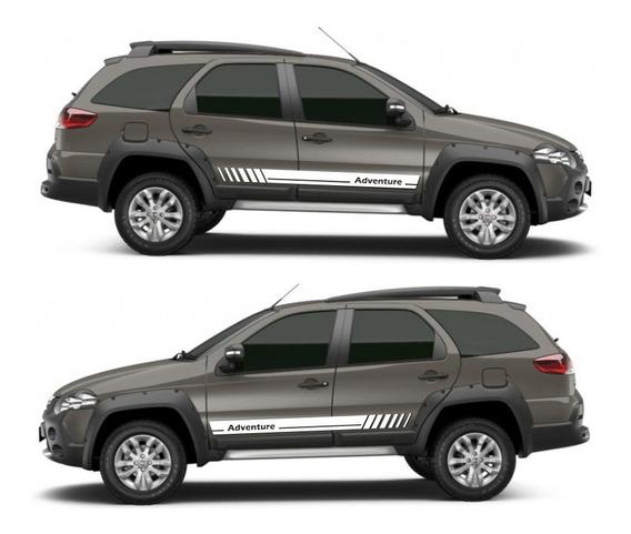 Kit Par 2x Adesivos Friso Faixas Laterais Fiat Palio Adventure D253