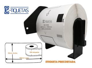 Pack 20 Rollos Dk1202 62x100 Mm 300 Etiquetas Ql 800 820 Eje