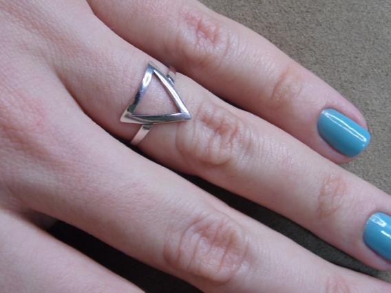 Anel Prata Triângulo