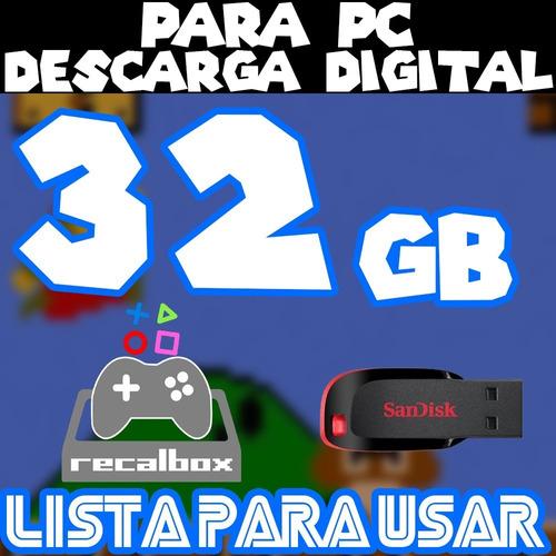 Archivo Imagen Recalbox 32g P/pc Con Pendrive 10 Mil Juegos