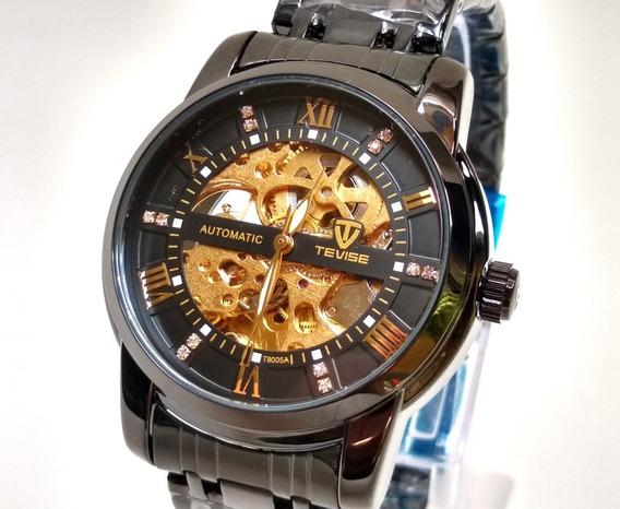 Relógio Automático Masculino Tevise Original - Varias Cores