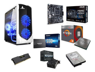 Pc Gamer Amd Ryzen 2200g 8 Gb Ddr4 Ssd 120 Gb, 2 Tb Toshiba