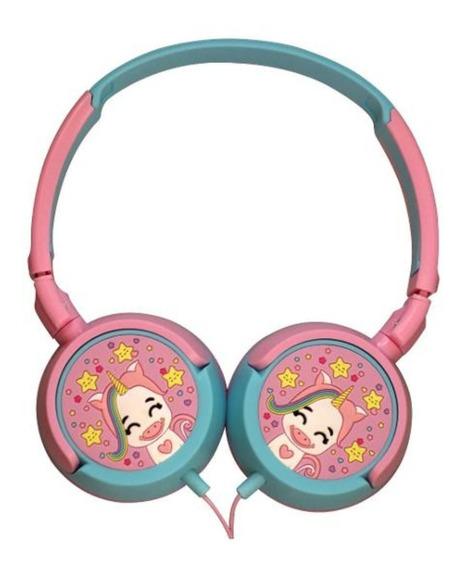 Fone De Ouvido Infantil Headphone Unicórnio Rosa - Oex