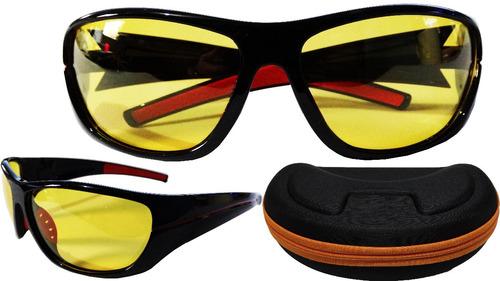 Oculos P/ Dirigir  Noite Polarizado Uv400 Com Case Esportivo