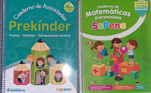 Pack Sopena Pre Kinder  Juego Dibujo Y Aprendo + Mat Entrete