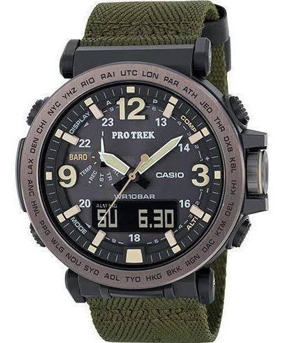 Reloj Casio Protrek Modelo Prg-600 Lona Verde