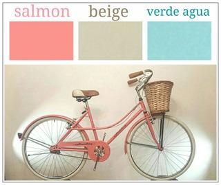 Bicicleta Paseo Vintage Rodado 26 R26 Canasto Mimbre