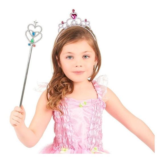 12 Tiara Princesa Gemas Disfraz Niña Fiesta Infantil Fh3