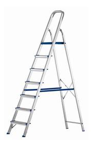 Escada Doméstica Prima Com 7 Degraus Em Alumínio Alustep
