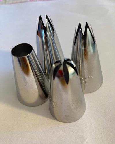 Imagen 1 de 4 de Pack 4 Boquillas Reposteria 2 Unidades 1m - 2a Y 2d Wilton