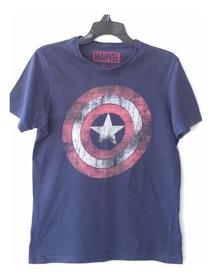 Camiseta Infantil Masculina Estampa Escudo Capitão América