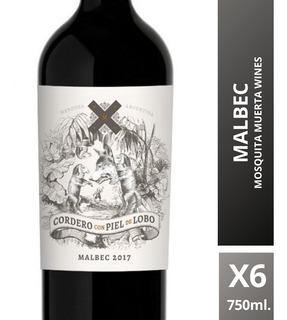 Vino Cordero Con Piel De Lobo Malbec 750 Ml. Caja 6 Botellas