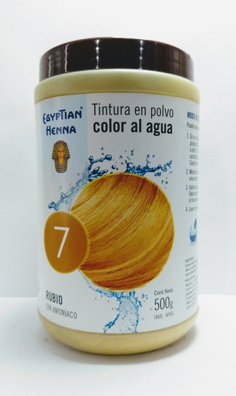 Tintura En Polvo Egyptian Henna Color Al Agua 500g Rubio