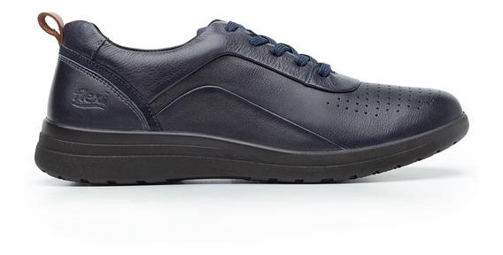 Zapatos Dama Estilo Casual Comodos 102002 Azul Flexi