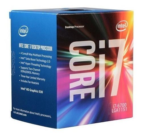 5830 Cpu Intel Core I7-6700 3.4ghz 8mb Fclga 1151 6º Geração