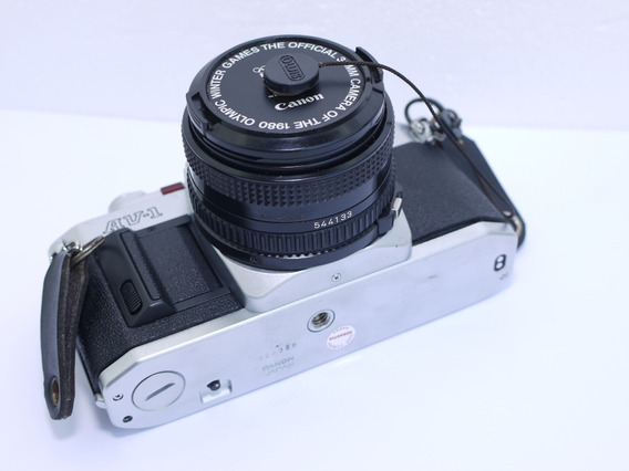 Câmera Fotografica Filme 35mm Canon Av-1 50mm F1.8 Fd 100%