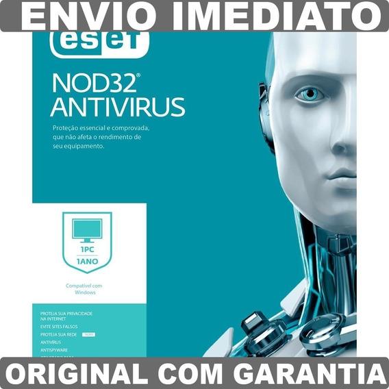 Antivirus Eset Nod32 Antivirus - 1 Pc 2 Anos Windows / Mac