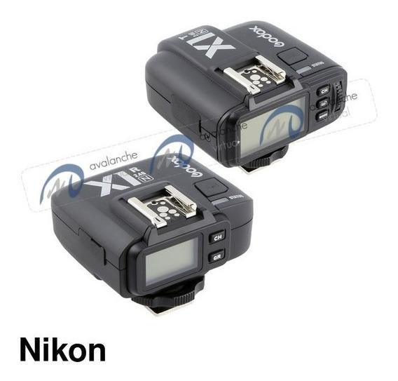 Rádio Flash Ttl Godox X1 X1n P/ Nikon Transmissor + Receptor