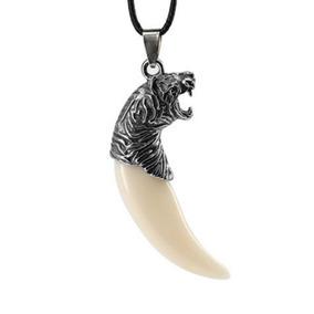 Colar Cordão Masculino Feminino Dente De Jaguar