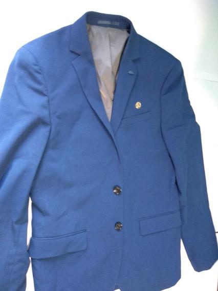 Terno Blazer Social Azul Masculino