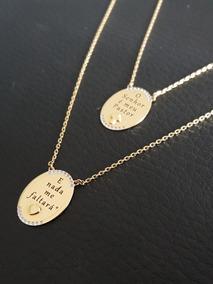 Escapulário Ouro 18k Medalhas Salmo 23 O Senhor É Meu Pastor