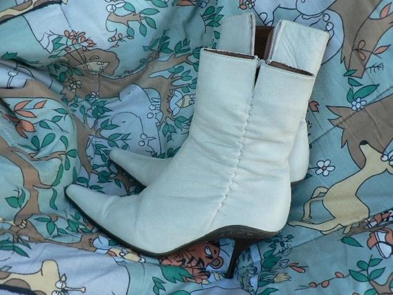 Bota Botineta Stiletto Paruolo Cuero Nº 37 1001zapatos