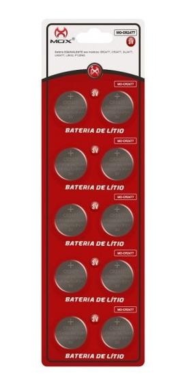 Bateria Moeda Cr2477 3v Pilha Lithium Mox Com 10 Unidades