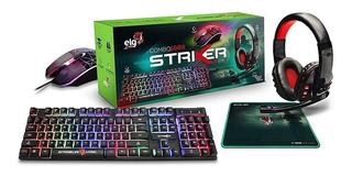 Kit Gamer Headset 4 Em 1 -cgsr41-eLG