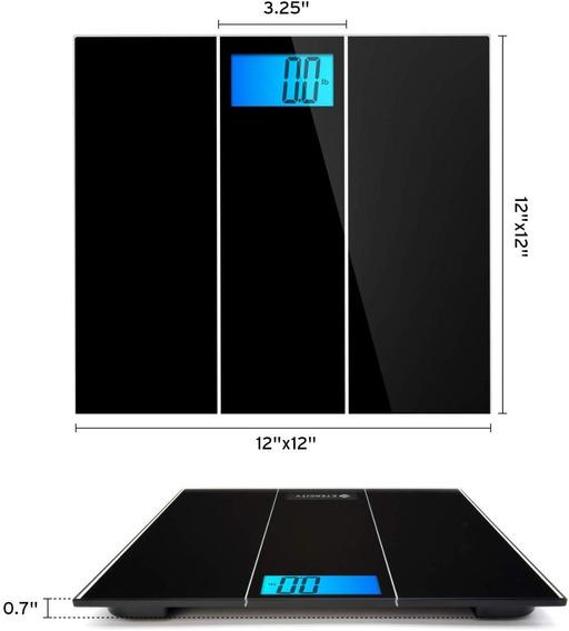 Etekcity - Báscula Digital De Baño Con Tecnología Step-on, E