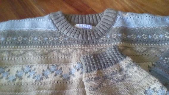 Sweater Pullover Gimos Buzo Tejido Lana Guardas Caba