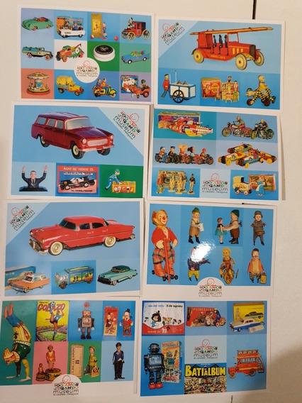 - Lote 1 De 8 Postales Del Museo Del Juguete