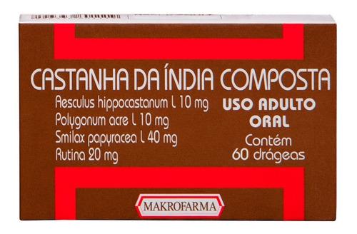 Imagem 1 de 1 de Castanha Da Índia C/60 Drágeas Makrofarma