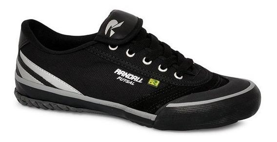 Tênis Futsal Randall Monaco Lv Preto/prata Lona Rdl 1008