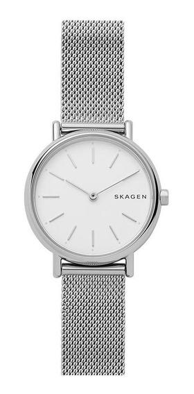 Relógio Feminino Skagen Ladies Signatur Prata - Original