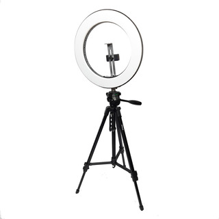 Luz Ring Led Anillo P/ Maquillaje Sop Celular Tripode 40cm