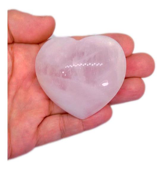 Coração De Quartzo Rosa Pedra Harmoniza O Amor