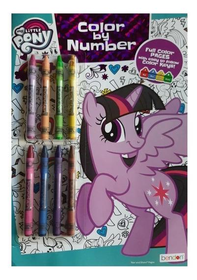 Libro De Colorear Por Números De My Little Pony