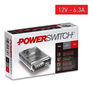 Fuente Switching Metalica Interior 75w 6.3a 12v - S-75-12