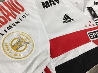 Camisa São Paulo adidas Hernanes #15 Preparada Para Jogo Com Patrocínios E Patch Do Campeonato Brasileiro 2019