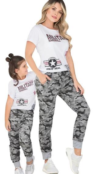 Dos Conjuntos Deportivos Camiseta Jogger Sudadera Mamá Hija