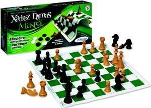 Jogo De Xadrez Master Tabuleiro Sintético Semi Profissional