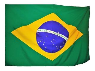Bandeira Oficial Do Brasil E São Paulo Tam 90x129cm (conj)
