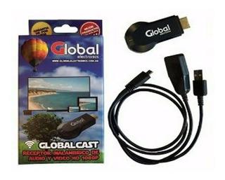 Global Cast Receptor Inalambrico De Audio Y Video Hd