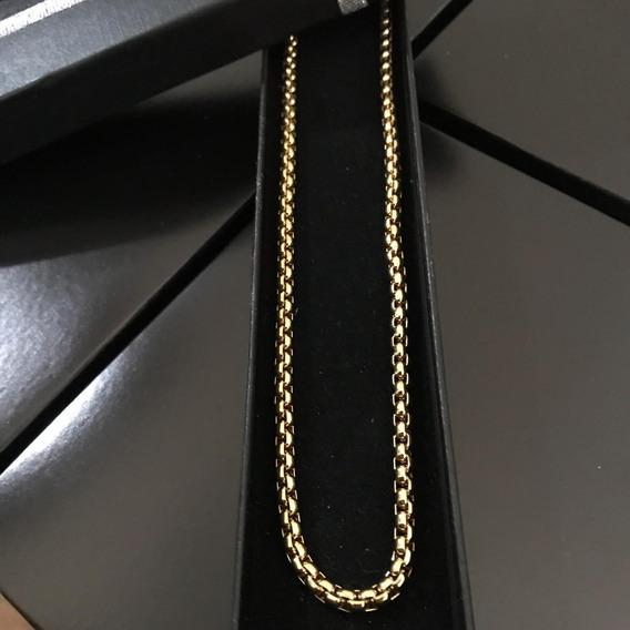 Cordão Colar Versace Fino Importado Unissex Folheado Ouro 18