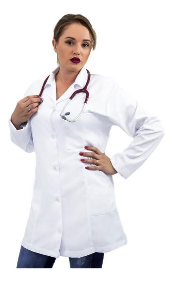 Jaleco Microfibra Feminino Acinturado Medica,enfermeira 04