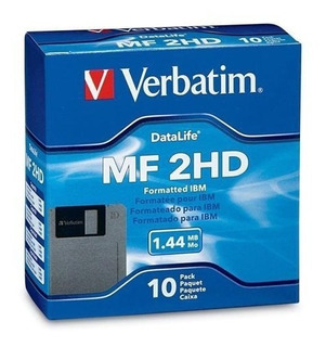 Caja Con C/10 Diskettes Flopy Verbatim/maxwell 3.5