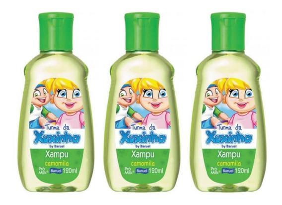 Baruel Turma Da Xuxinha Camomila Shampoo 120ml (kit C/03)