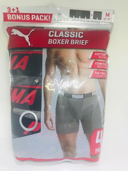 Kit De 4 Cuecas Puma Masculina Boxer Tamanho M