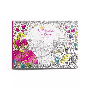 Livro De Colorir Para Jovens Artistas A Princesa E O Cisne