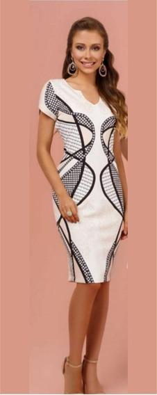 Vestido Tubinho Estampado Dazul Moda Evangélica - 42